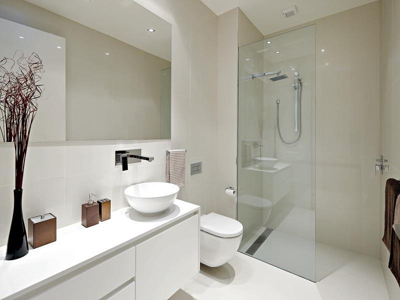 Small modern bathroom design 1 ad capry for Australian small bathroom design